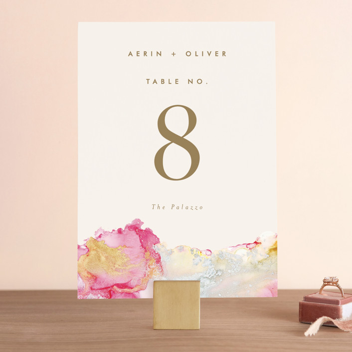 """""""desert chic"""" - Modern Wedding Table Numbers in Blush by AK Graphics."""