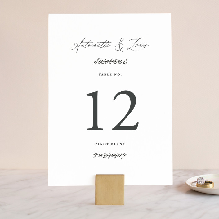 """""""Antoinette"""" - Wedding Table Numbers in Ivory by lulu and isabelle."""