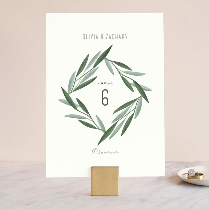 """""""Oliviers"""" - Wedding Table Numbers in Spring by Gwen Bedat."""