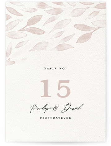 This is a modern, painterly, brown Table Numbers by Pink House Press called Inky with Standard printing on Luxe Museum Board in Classic Flat Card format. This wedding invitation features the classic feel of antique calligraphy with modern touches of ...