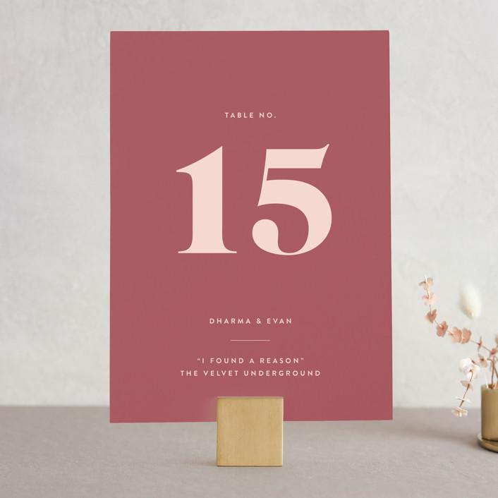 """headline"" - Wedding Table Numbers in Rust by Melissa Egan of Pistols."