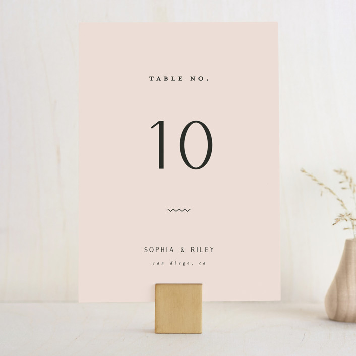 """""""Adora"""" - Wedding Table Numbers in Dawn by Leah Bisch."""