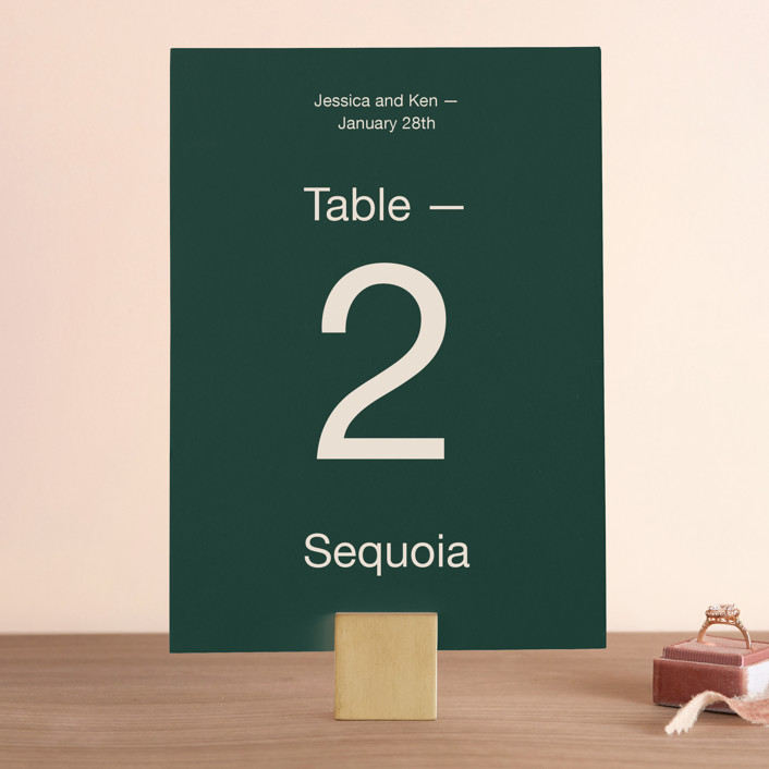 """Proposal"" - Wedding Table Numbers in Buff by Jack Knoebber."