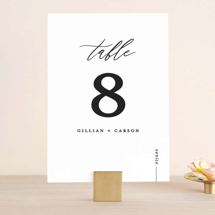 """Villa"" - Wedding Table Numbers in Pearl by Chryssi Tsoupanarias."