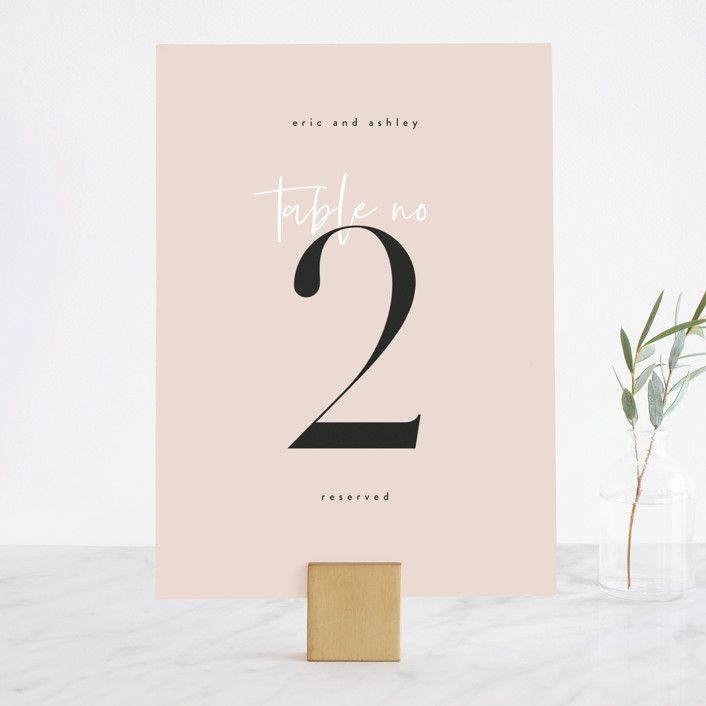"""""""Loved"""" - Wedding Table Numbers in Champagne by Angela Garrick."""