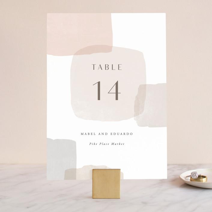 """Sculpture Garden"" - Modern Wedding Table Numbers in Desert by Hooray Creative."