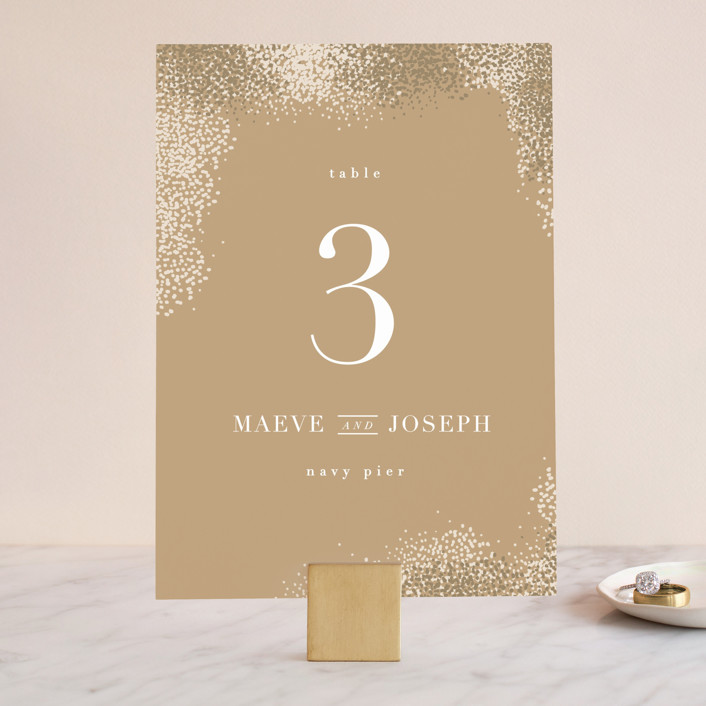 """""""Organic Dots"""" - Bohemian Wedding Table Numbers in Champagne by lena barakat."""