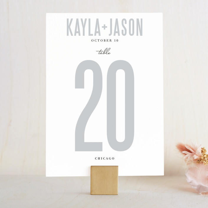 """""""Monumental"""" - Wedding Table Numbers in Cotton by Jessie Steury."""