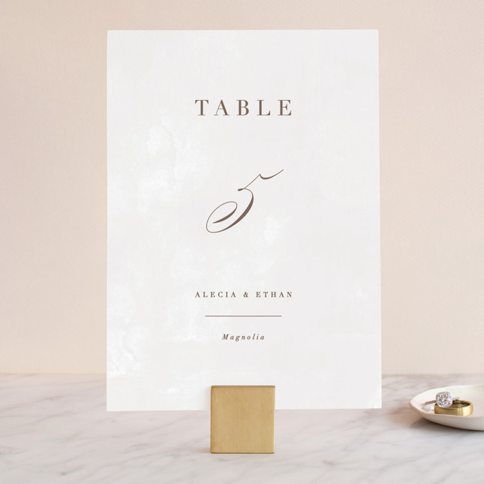 """Sonesta"" - Wedding Table Numbers in Mineral by Hooray Creative."