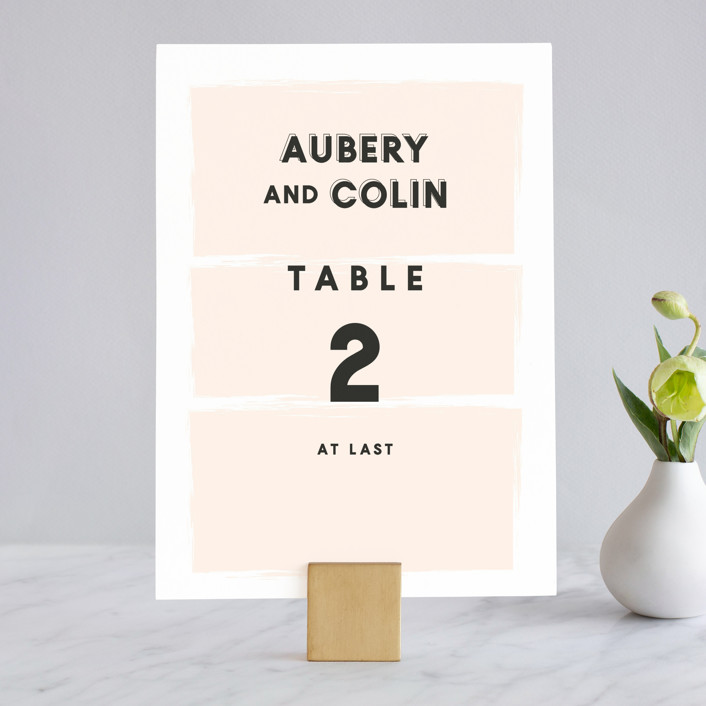 """""""bold blush"""" - Wedding Table Numbers in Blush by frances."""