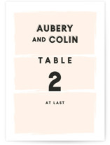 This is a orange table number by frances called bold blush with standard printing on doublethick in standard.