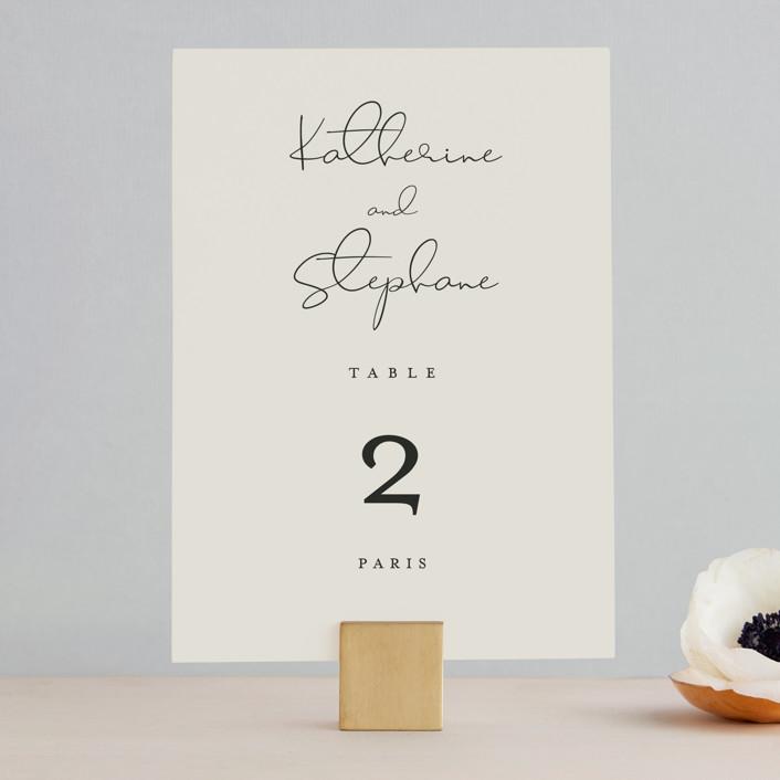 """sweet sweet elegance"" - Wedding Table Numbers in Dutch Cream by frances."