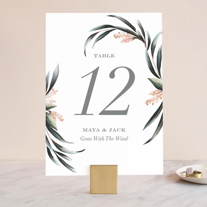"""""""Maya Rustica"""" - Wedding Table Numbers in Rose by Petra Kern."""