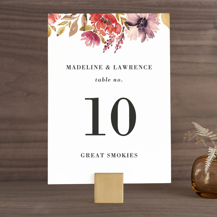 """""""Autumn Vows"""" - Wedding Table Numbers in Burnt Orange by Chris Griffith."""