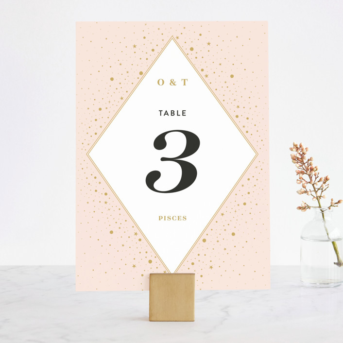 """Magical day"" - Bohemian Wedding Table Numbers in Navy by katrina gem."