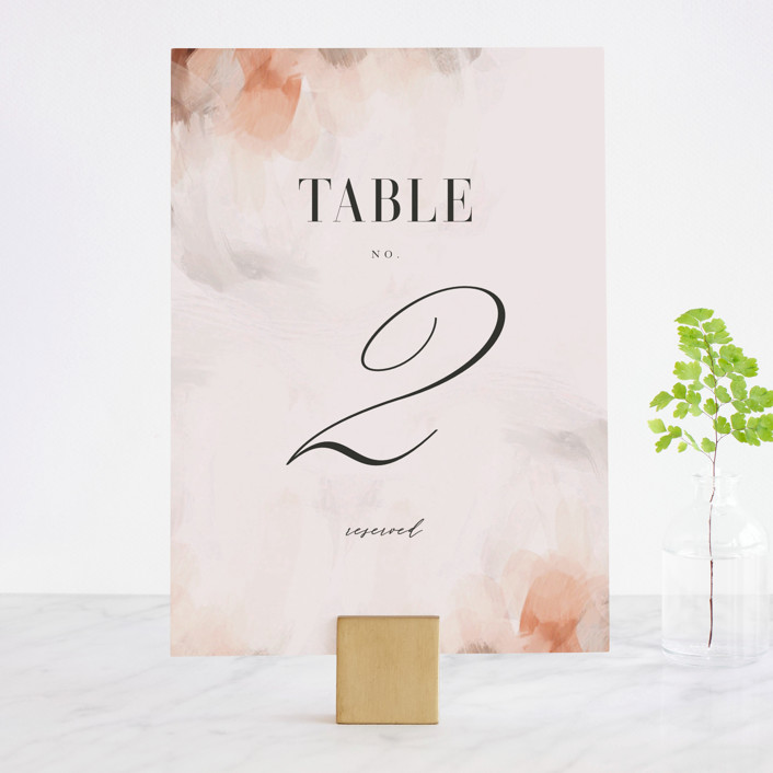 """""""Romantic"""" - Wedding Table Numbers in Earth by Lori Wemple."""