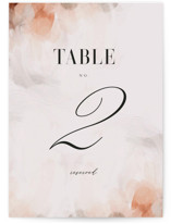 This is a orange table number by Lori Wemple called Romantic with standard printing on doublethick in standard.