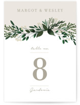 This is a green table number by Kaydi Bishop called Watermark with standard printing on doublethick in standard.