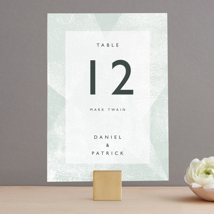"""Elegantly Minimal"" - Wedding Table Numbers in Seafoam by itsjensworld."
