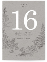 This is a grey table number by Baumbirdy called Floral Frame Sketch with standard printing on doublethick in standard.