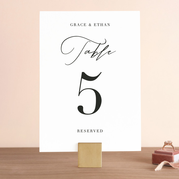"""first dance"" - Wedding Table Numbers in Champagne by Kasia Labocki."