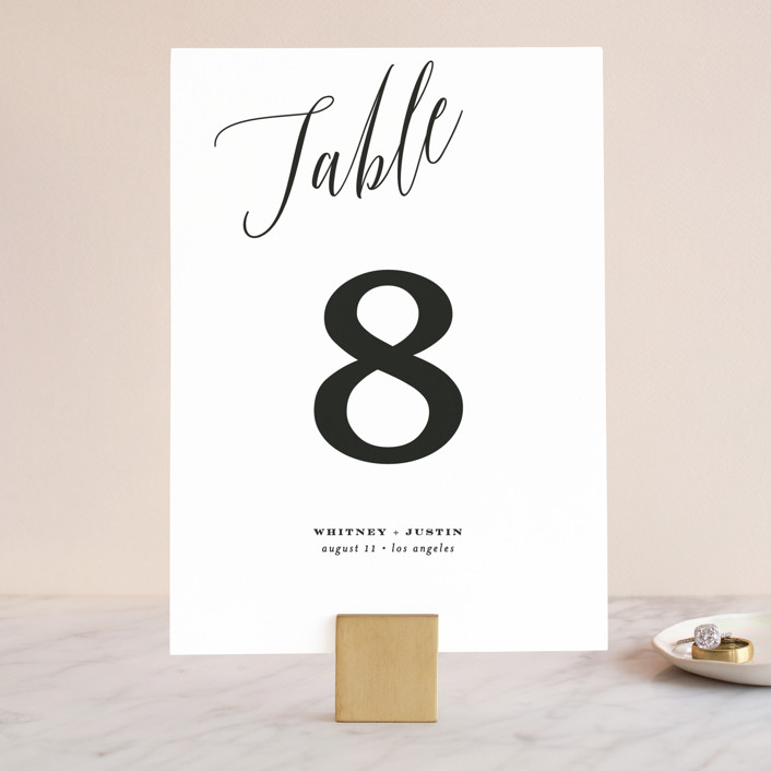"""""""Signed"""" - Wedding Table Numbers in Pearl by Roxy Cervantes."""