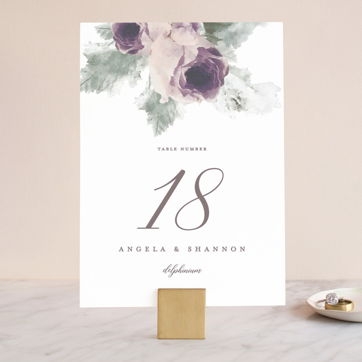 """""""rose drop"""" - Wedding Table Numbers in Rose by Cassandra Imagines."""