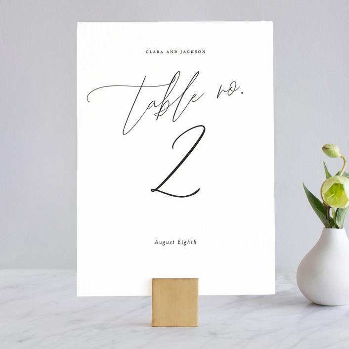 """Bare"" - Wedding Table Numbers in Cloud by Kelly Nasuta."