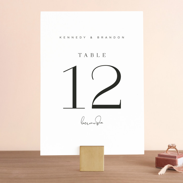 """""""The Space Between"""" - Wedding Table Numbers in Sugar by Jessica Williams."""
