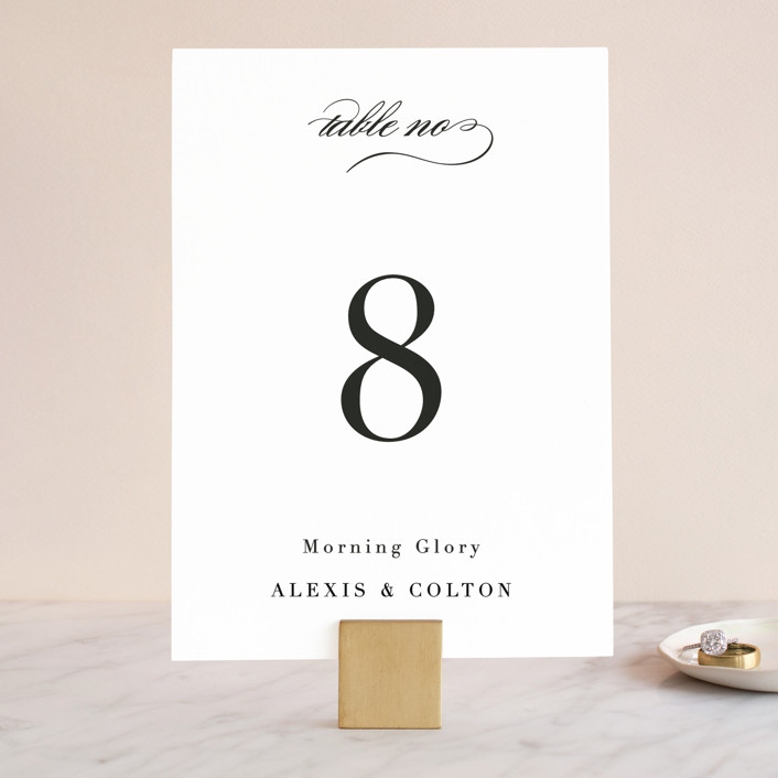 """Charming"" - Wedding Table Numbers in Pearl by AK Graphics."