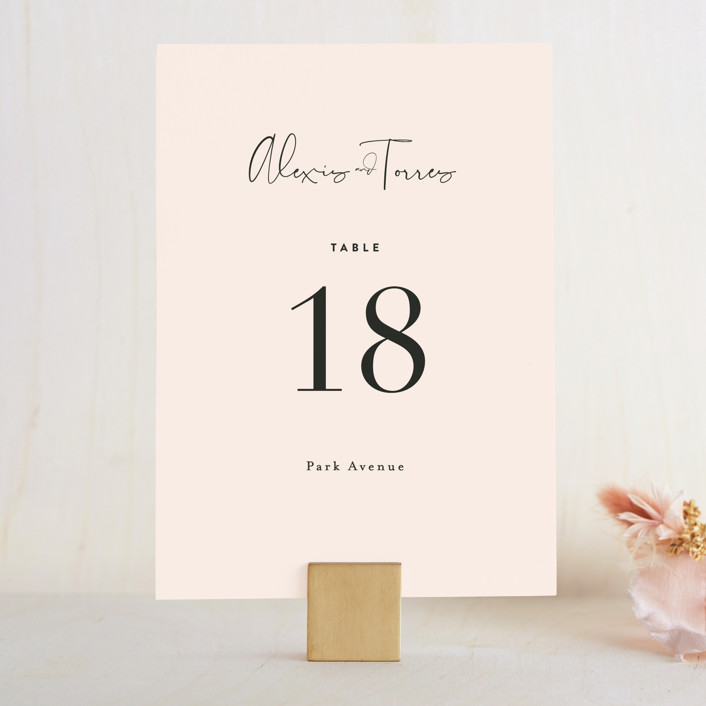 """Just the Two of Us"" - Wedding Table Numbers in Blush by Jennifer Wick."
