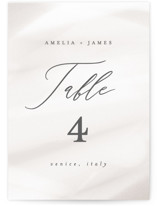 This is a brown table number by Ana Sharpe called Overjoyed with standard printing on doublethick in standard.