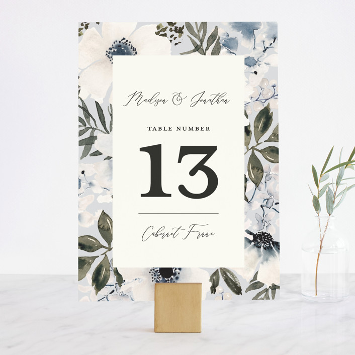 """""""Nantucket Romance"""" - Wedding Table Numbers in Marine by Chris Griffith."""