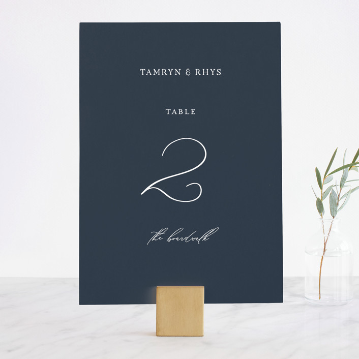 """""""Waltz"""" - Wedding Table Numbers in Nightfall by Jula Paper Co.."""