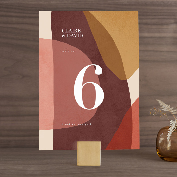 """Galeria"" - Modern Wedding Table Numbers in Autumn Desert by Kelly Schmidt."