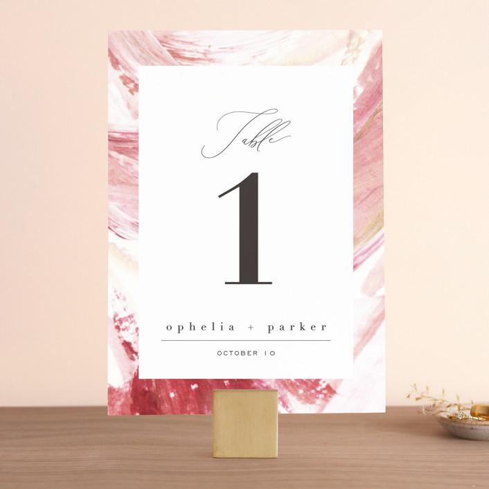 """""""pollen"""" - Wedding Table Numbers in Petal by Robin Ott."""