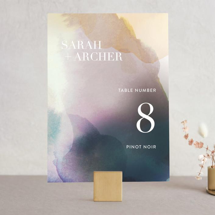 """""""Raptured"""" - Wedding Table Numbers in Amethyst by Design Lotus."""