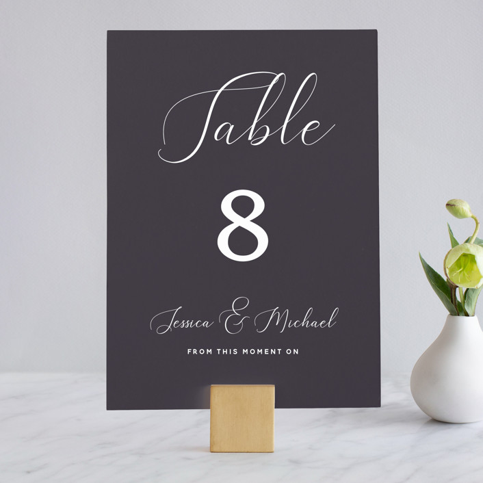 """Right Side"" - Wedding Table Numbers in Blackberry by Susan Brown."