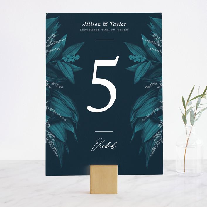 """""""Moonlit Garden"""" - Wedding Table Numbers in Twilight by GeekInk Design."""