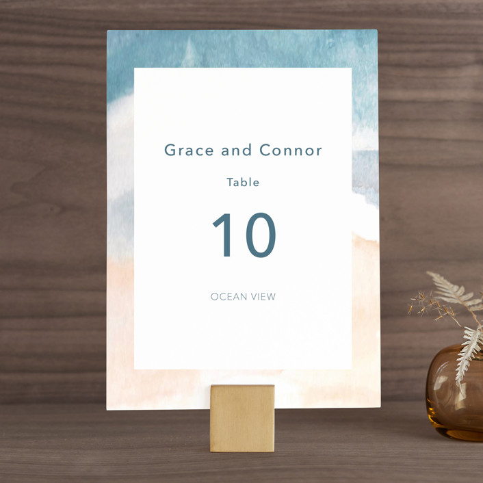 """""""Sea and Sand"""" - Wedding Table Numbers in Cortez by Jenny Partrite."""