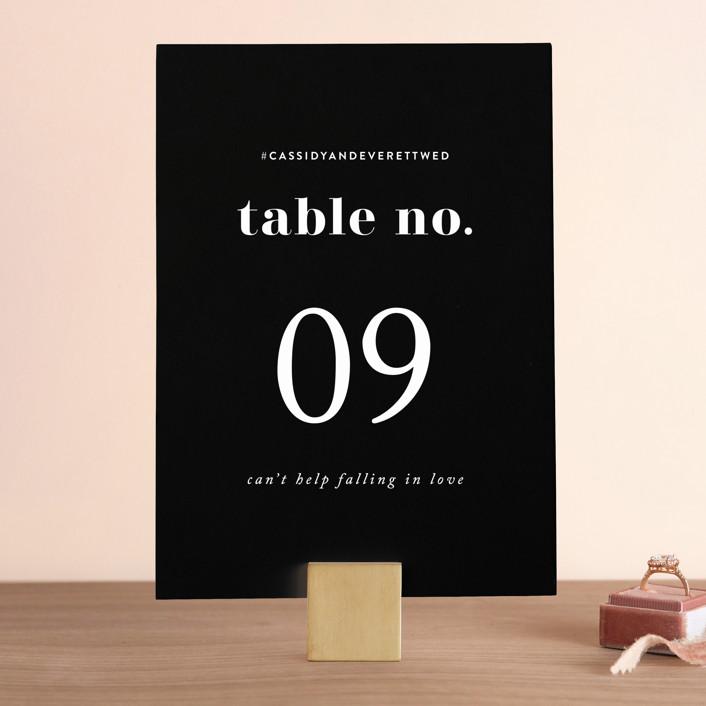 """Key Ingredients"" - Wedding Table Numbers in Cotton by Christie Garcia."
