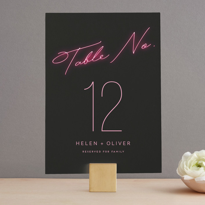 """""""Crazy in Love"""" - Wedding Table Numbers in Hot Pink by Design Lotus."""