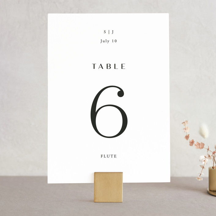 """Arguello"" - Wedding Table Numbers in Diamond by Annie Shapiro."
