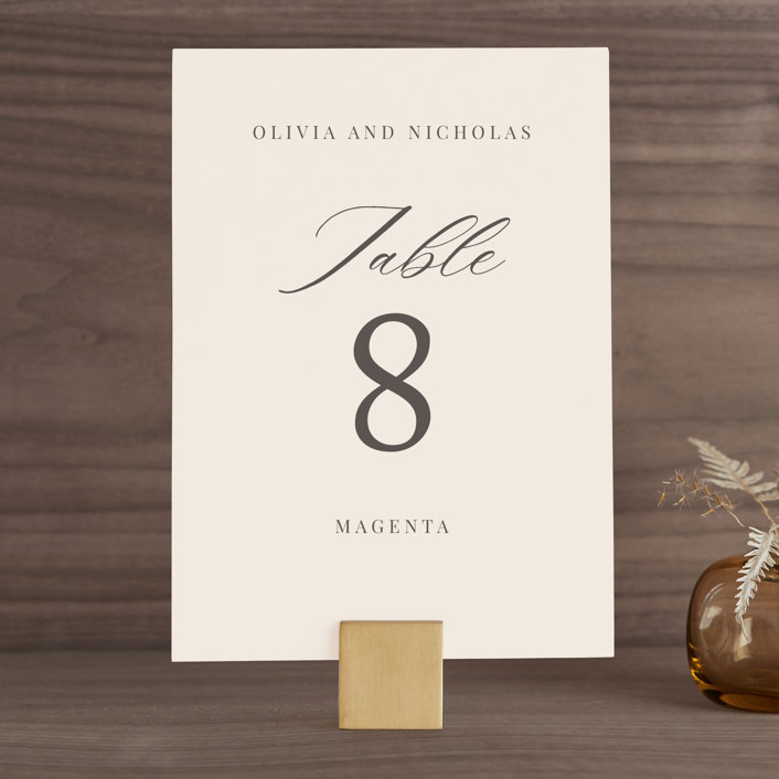 """""""Leafy Branch"""" - Wedding Table Numbers in Latte by Katherine Moynagh."""