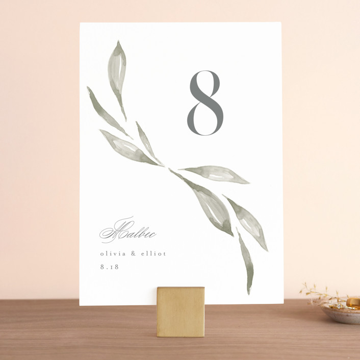 """Whispered Leaves"" - Wedding Table Numbers in Leaf by Kristie Kern."