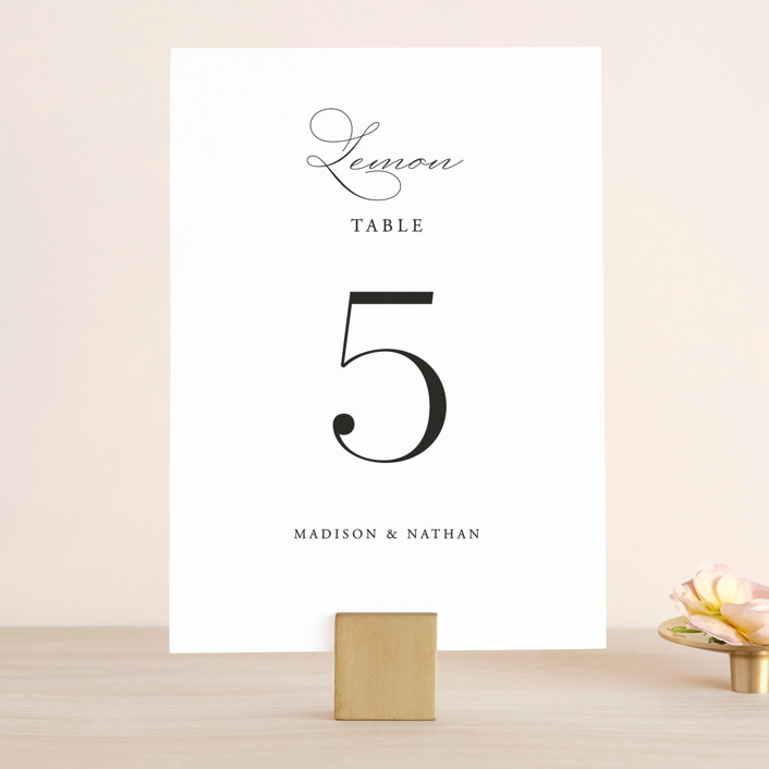 """Organza"" - Wedding Table Numbers in Linen by Jill Means."