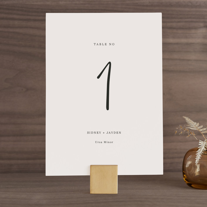 """""""stylist script"""" - Wedding Table Numbers in Ivory by Cass Loh."""