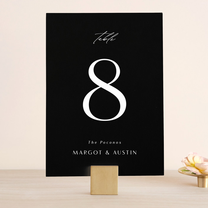 """""""Margot"""" - Wedding Table Numbers in Midnight by Lauren Chism."""