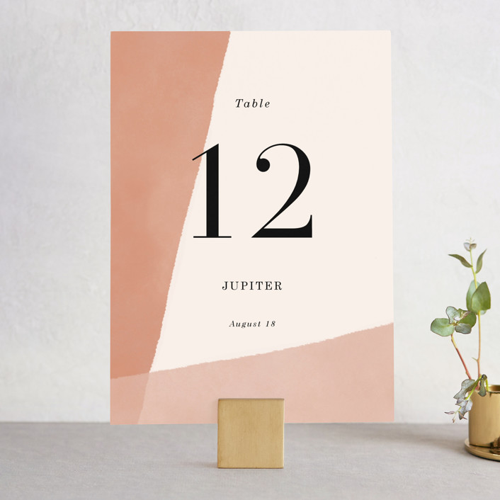 """""""Magazine Serif"""" - Wedding Table Numbers in Sand Dunes by Elly."""