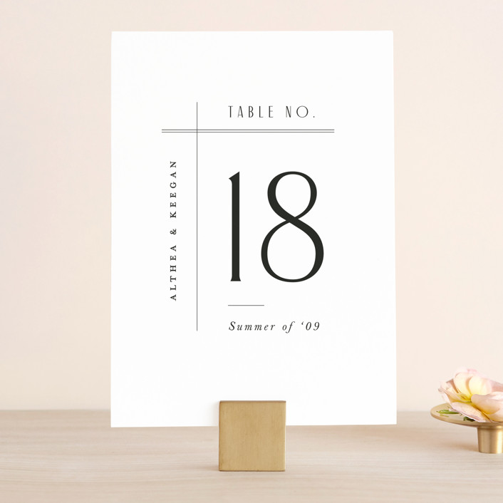 """""""Narrative"""" - Wedding Table Numbers in Frost by Jennifer Wick."""